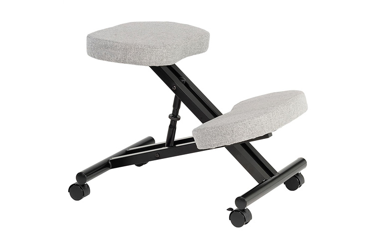 Idimex Robert gris/noir : une chaise ergonomique au design novateur